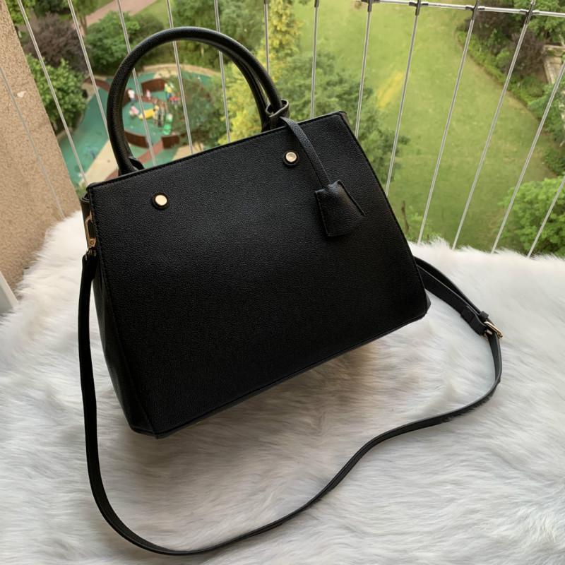 Lüks Tasarımcılar Çanta Çantalar Montigne Çanta Kadın Tote Marka Mektubu Kabartma Hakiki Deri Omuz Çantaları Crossbody Çanta Satchel N41056