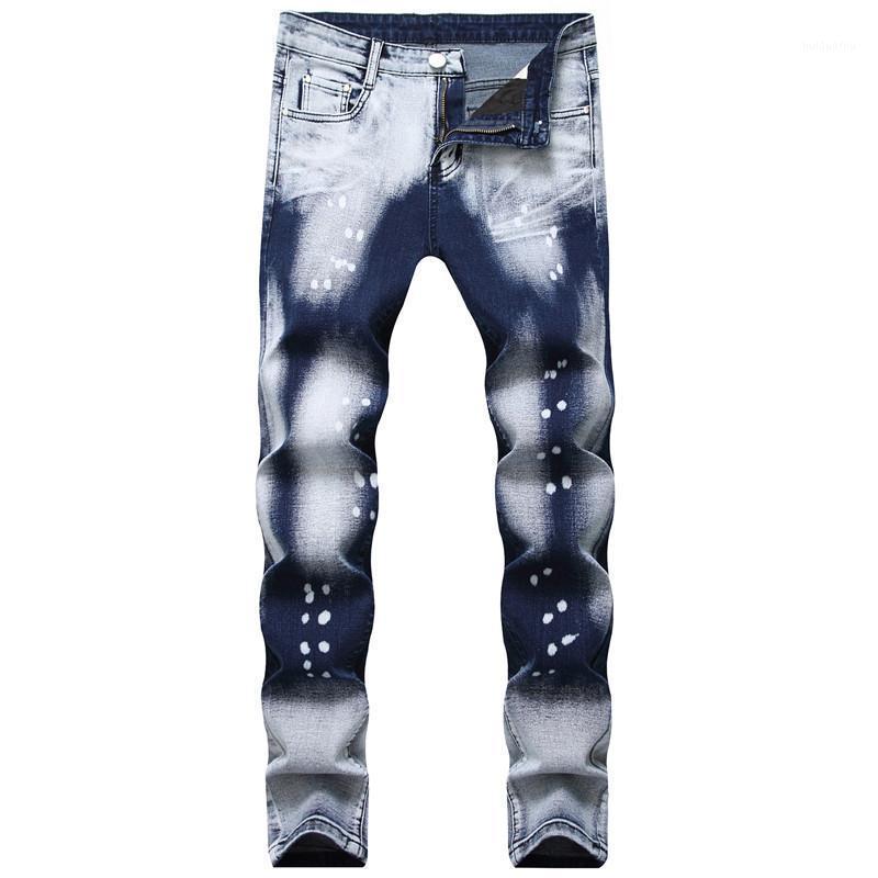 Moruancle Fahsion Homens Pintado Denim Calças Hi Street Impresso Calças De Jeans Stretchy Calças Para Masculino Oi Streetwear Plus Tamanho 28-401