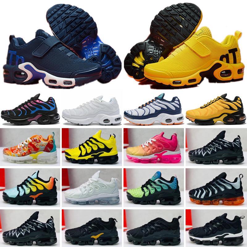 Nike Mercurial Air Max Plus Tn Новые Дети Плюс Tn Дети Родитель Ребенок Повседневная Обувь Для Мальчика Девочки Модный Кроссовки Белый Бег Открытый Тренер Обуви 28-35