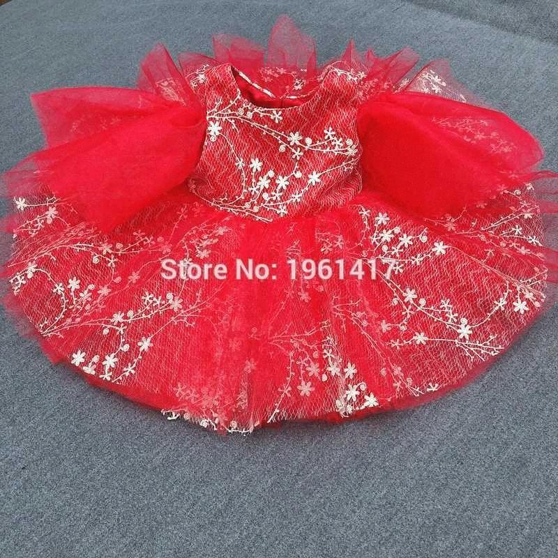 Vestito del fiore del bambino della principessa del merletto abito Summer Infant compleanno Dress Festa di Natale Newborn merletto della ragazza vestiti Zd8P #