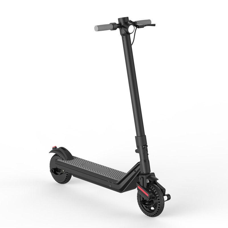 8,5-Zoll-faltbarer elektrischer Roller 25km / h 2 Räder Elektroroller 350W elektrische Kick-Roller für Erwachsene mit doppeltem Schock 3 Bremsen