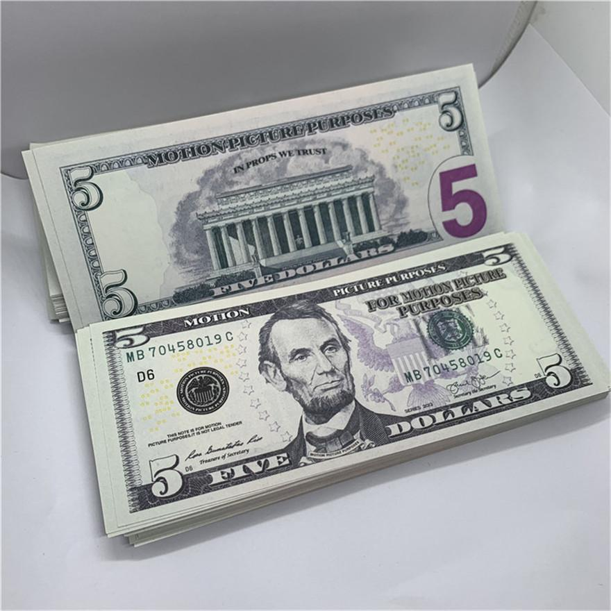 Gioco 5 Coin USD Carta in carta Concupissione Commemorativa Valuta Commemorativa Disattivata Nuova edizione Vguac Halloween F13 Gold Puntelli moneta Pirate Coin Agunw