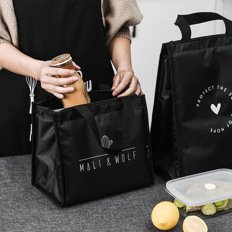 Isolationstasche Nordic Lunch-Tasche Weibliche Nette Aluminiumfolie Dicke Student Mittagessen Tragbare Canvas Box Isolierung1