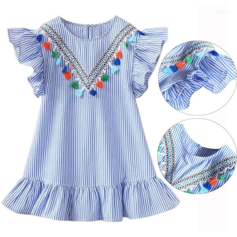 Niñas de verano Tassel Vuelas Vestidos Vestidos Franja Lindos Niños Vestidos de fiesta para Niños Niñas Princesa Vestido Tops Tops1