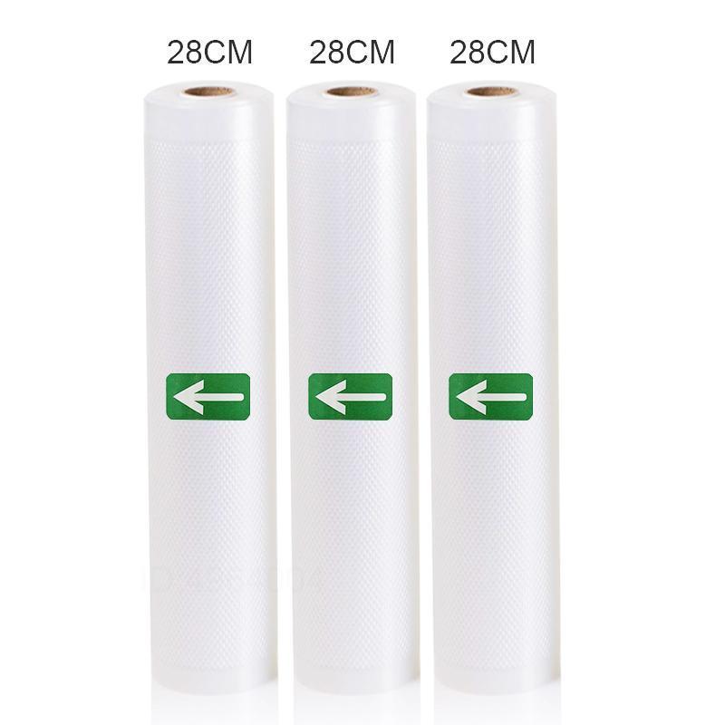 3 Рулоны вакуумный Sealer сумки 12 15 20 25 28 х 500 см Для экономии Рулоны Главная пломб Вакуумные Пакер Сумки