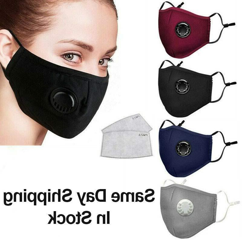 estoque unisex boca máscara rosto preto em algodão anti poeira e proteção nariz máscara de moda lavável máscaras de ciclismo reutilizável