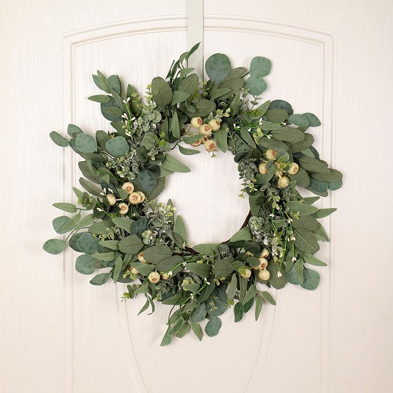 Декоративные цветы венки искусственные зеленые эвкалипты гирлянды листья украшения входные двери стены оформление окна венок свадебная стрельба