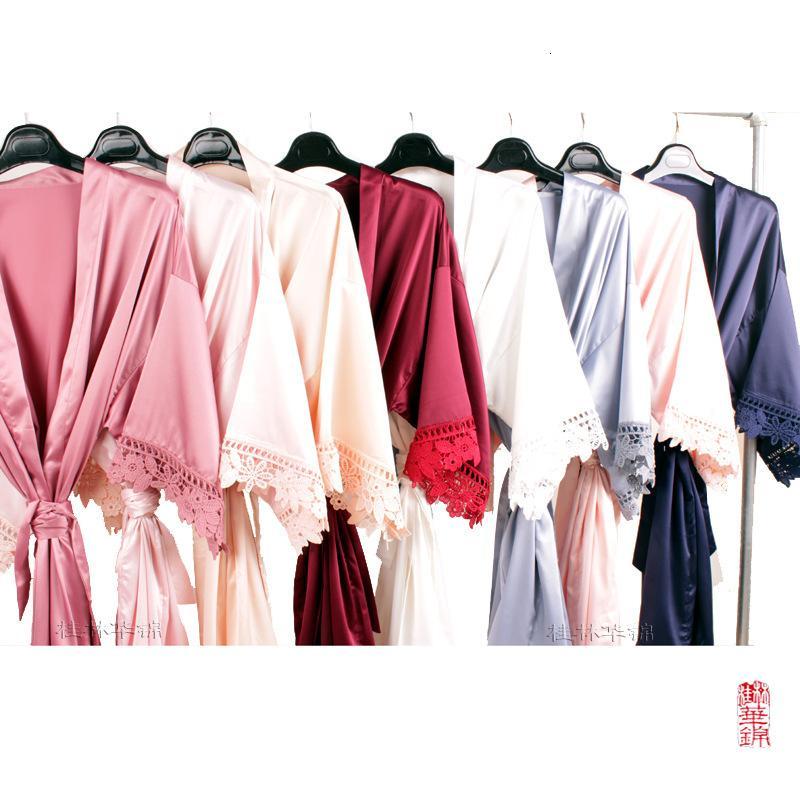 Ding Best Selling Hochzeitsfeier Morgen Nachthemd Matt Spitze Kleid A9007 Kindergröße