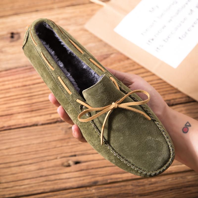 Chaussures décontractées pour hommes Mocassins de style britannique Cuisine authentique Appartements Zapatos Hombre Mocassins Footwear Hommes Winterping Chaussures 201012