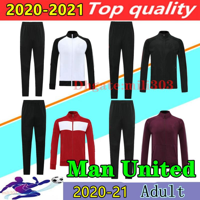 20 21 manchester jacket tracksuit 2020 2021 VAN DE BEEK RASHFORD GREENWOOD POGBA B.FERNANDES MARTIAL UTD man jackets soccer training suit