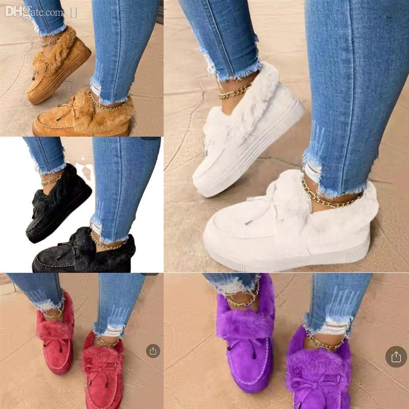 Z0XDW أحذية، النعال ستايلطن الأحذية الثلوج Slipperswomen's Cutemophen داخل الشتاء بالإضافة إلى المخمل