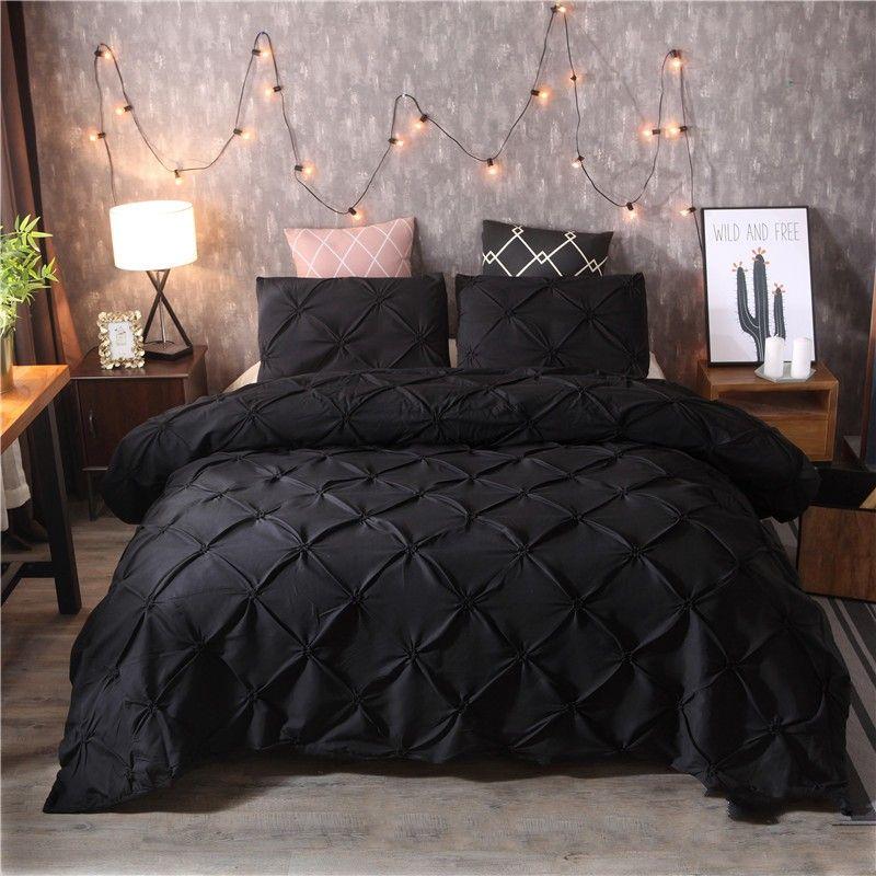 Solid Color Bedding Sets Quilt Cover Pillowslip Versatile Pulling Flowers Hot Sale Color Mix King Size Hot Sale 82xq K2