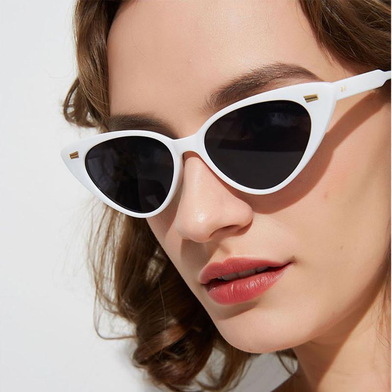Luxury- 2020 Новый треугольник Cat Eye Солнцезащитные очки Европейская и американская тенденция Маленькие рамки Солнцезащитные очки Мода ретро