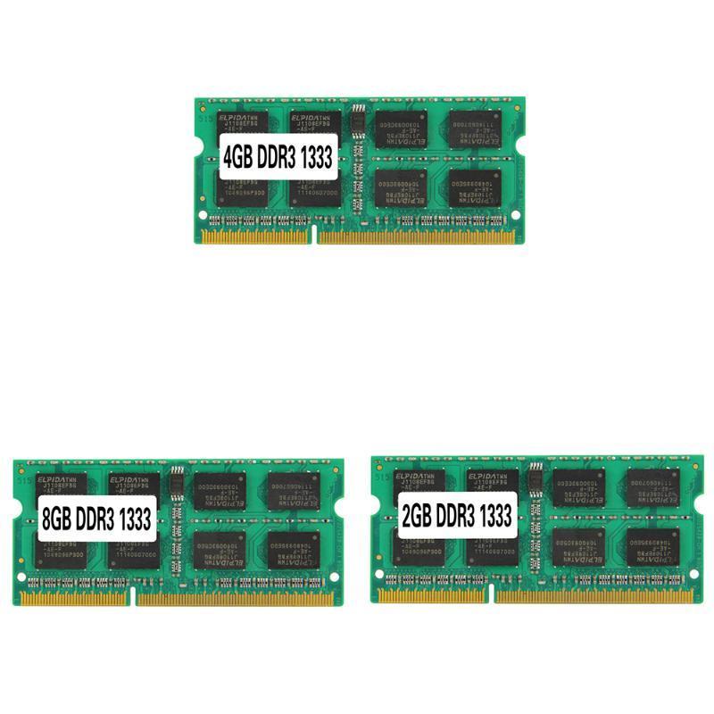 RAMs DDR3 PC3-10600 RAM 133Hz 204PIN 1.5V SO-DIMM Notebook Memory For AMD/