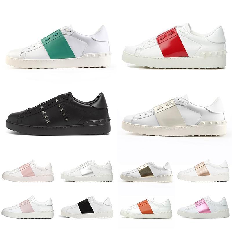 Valentino 2021 nouvelle arrivée chaussures habillées grande taille 12 blanc noir rouge mode hommes femmes de luxe en cuir designer chaussures baskets de sport Eur 35-46