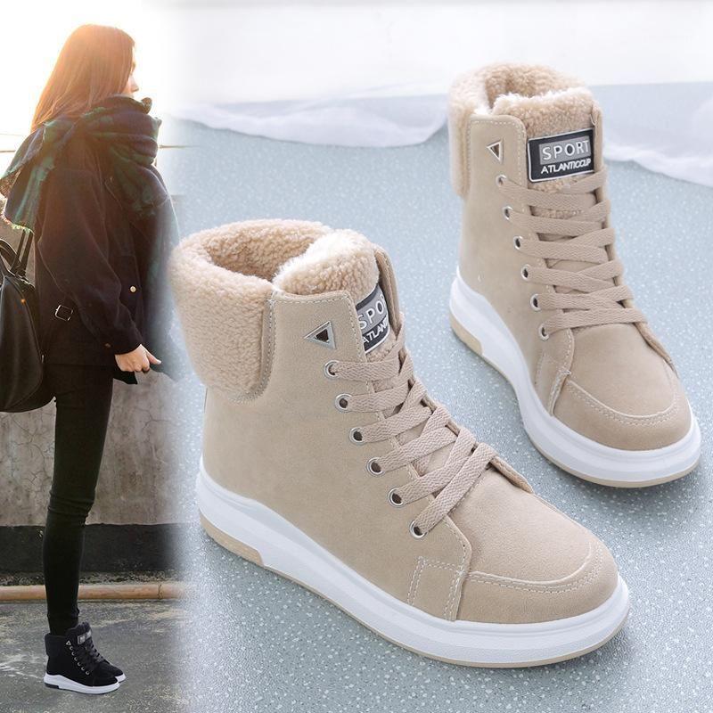 2020 femmes bottes bottes d'hiver bottes de neige femme dentelle chaude dentelle chaude avec femme chaussures marée Botas mujer vente chaude1