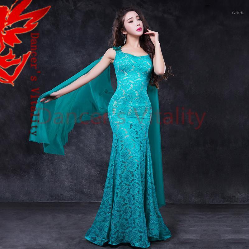 Носить сценические женские животные танцевальные кружева леди элегантные м / л танцора мода одежда для девочек одежда1