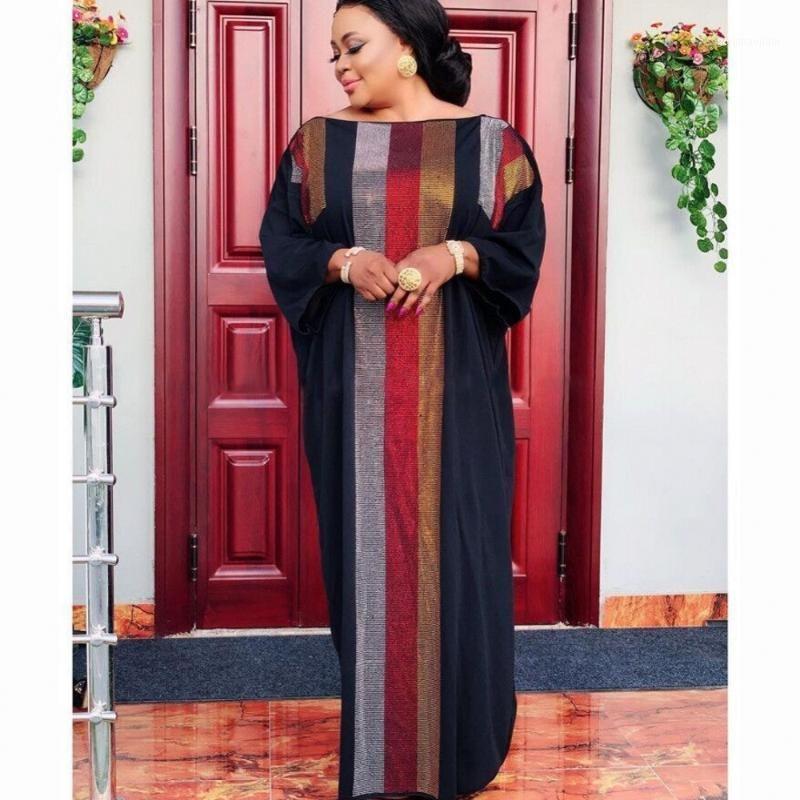 2020 África Roupas Vestidos Africanos para Mulheres Muçulmanos Vestido Longo De Alta Qualidade Comprimento Moda Africano Maxi Vestido Para Lady1