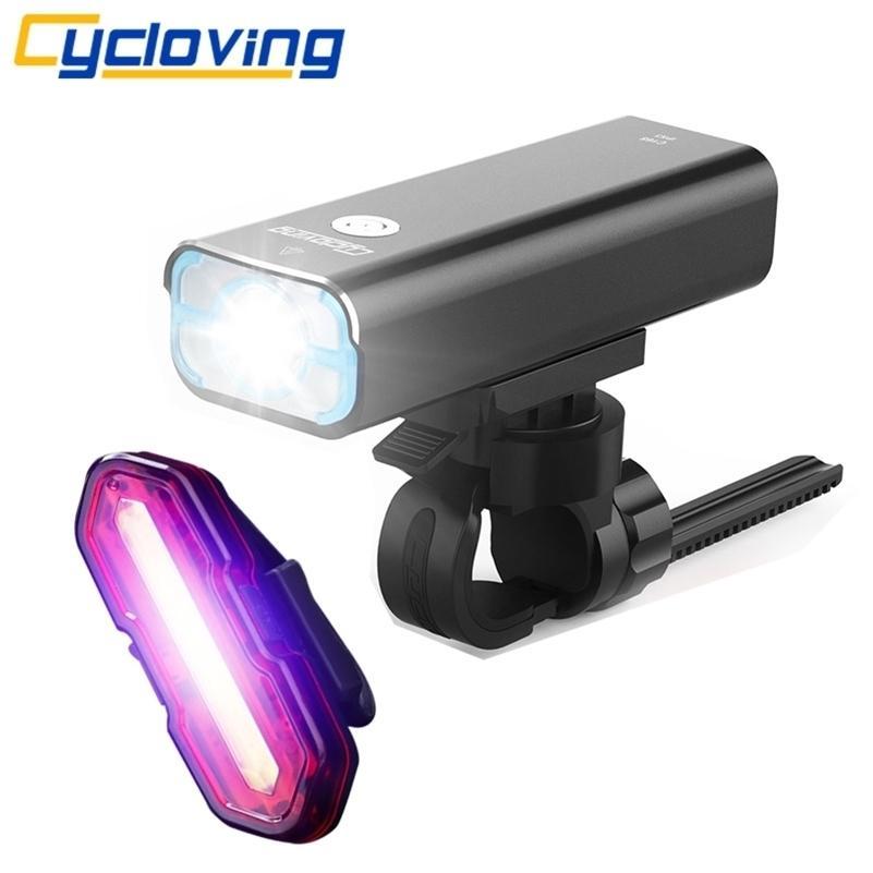 Cycloving Bicycle Light Bike Lights LED Lampe Taschenlampe Wide Flutlicht Wiederaufladbare wasserdichte MTB-Bike-Zubehör Y200920