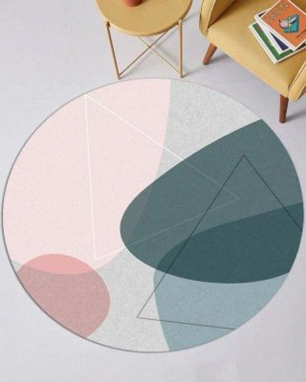 Nordic listrado Tapete geométrico moderno Quarto Sala Non Slip Mat CgBU #