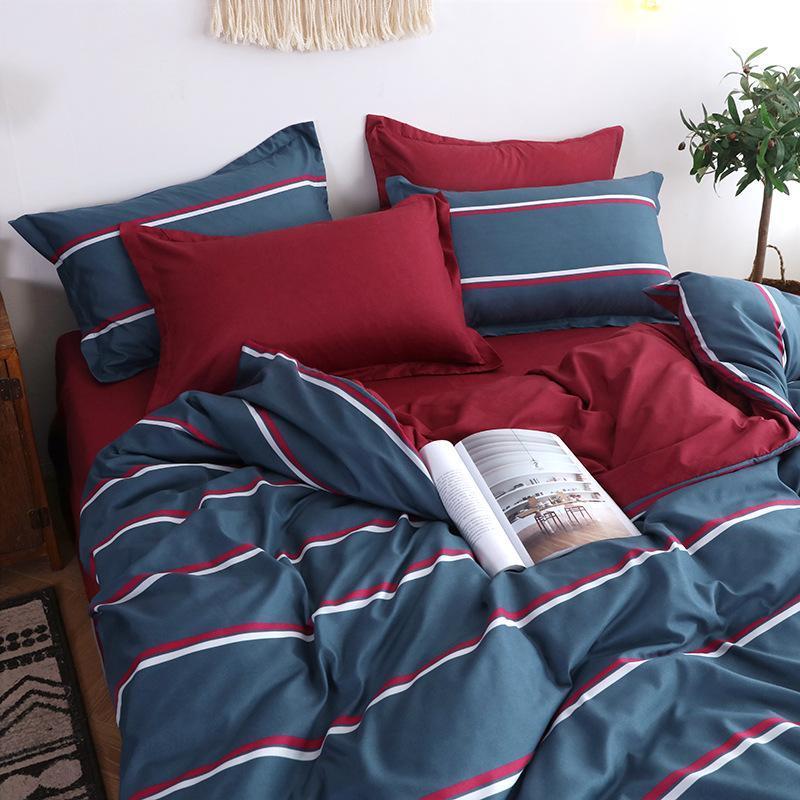 Sisher kısa çiçek baskılı yatak seti kraliçe nevresim setleri hayvan tek çift kral yorgan yatak çarşafları düz donatılmış levha