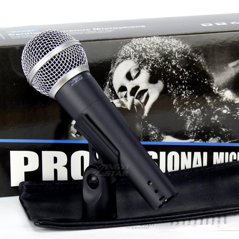 Profesyonel LC Vokal Dinamik El Mic Kablolu Mikrofon Mike SM 58 58 S Için KTV Sing Karaoke Player Mikser Audio1