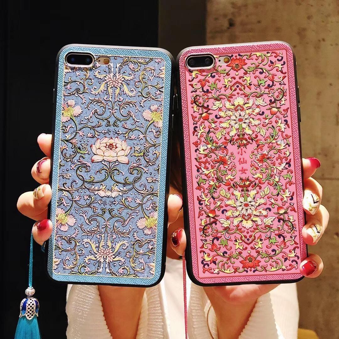 1pcs per Iphone 8 Telefono Caso Royal Lotus Totem Mobile Shell per Iphone 6/7 / X