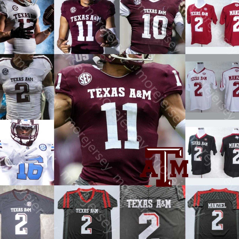 Custom Texas Aggies Jersey Jersey NCAA College Zach Calzada Richardson Wydermyer Matthews Ogbuehi Tannehill Joeckel Greg Hill Coryatt