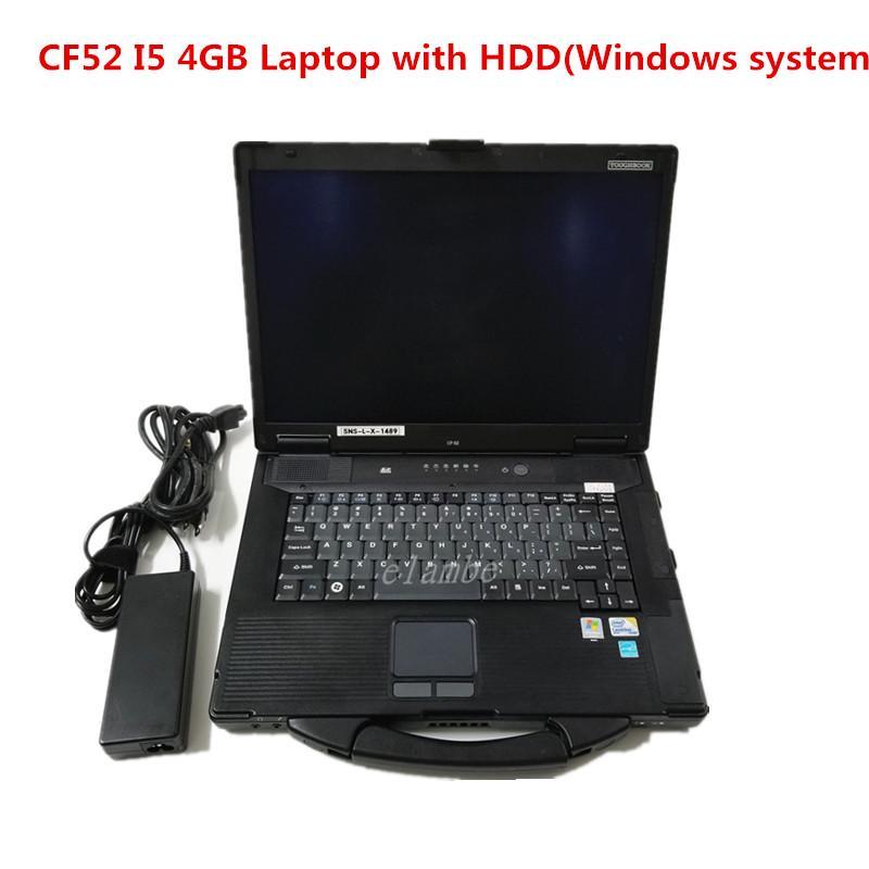 2020 محمول التشخيص الساخن ل Panasonic CF-52 I5 وحدة المعالجة المركزية 4 جيجابايت مع HDD يمكن أن تعمل من أجل Alldata Soft-Ware MB Star C4 C5 C6