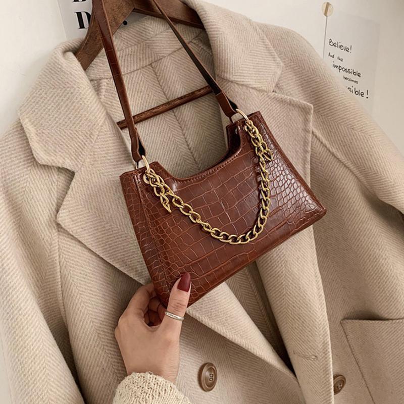 Borse a mano in oro coccodrillo a spalla catena della signora per 2020 modelli di progettazione donne borse da viaggio femminile crossbody borsa di alta qualità jcihq