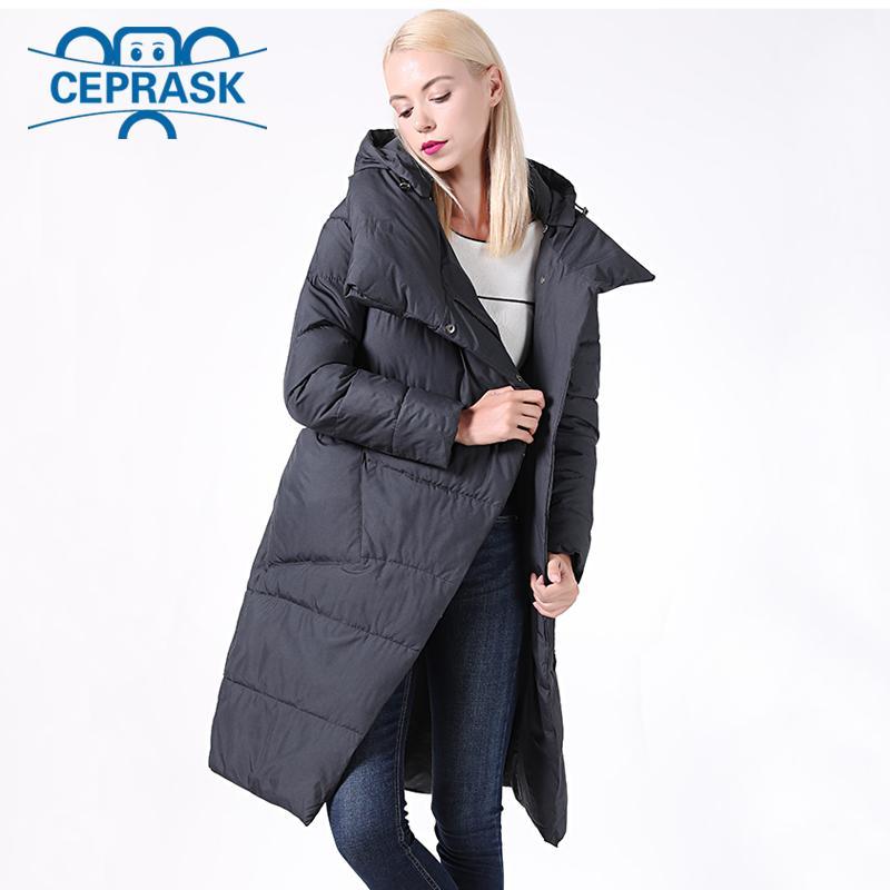 Brasão nova Jaquetões Mulheres à prova de vento gola alta da Mulher Parka Feminino Longo Jacket removível com capuz Plus Size 6XL Ceprask 200929