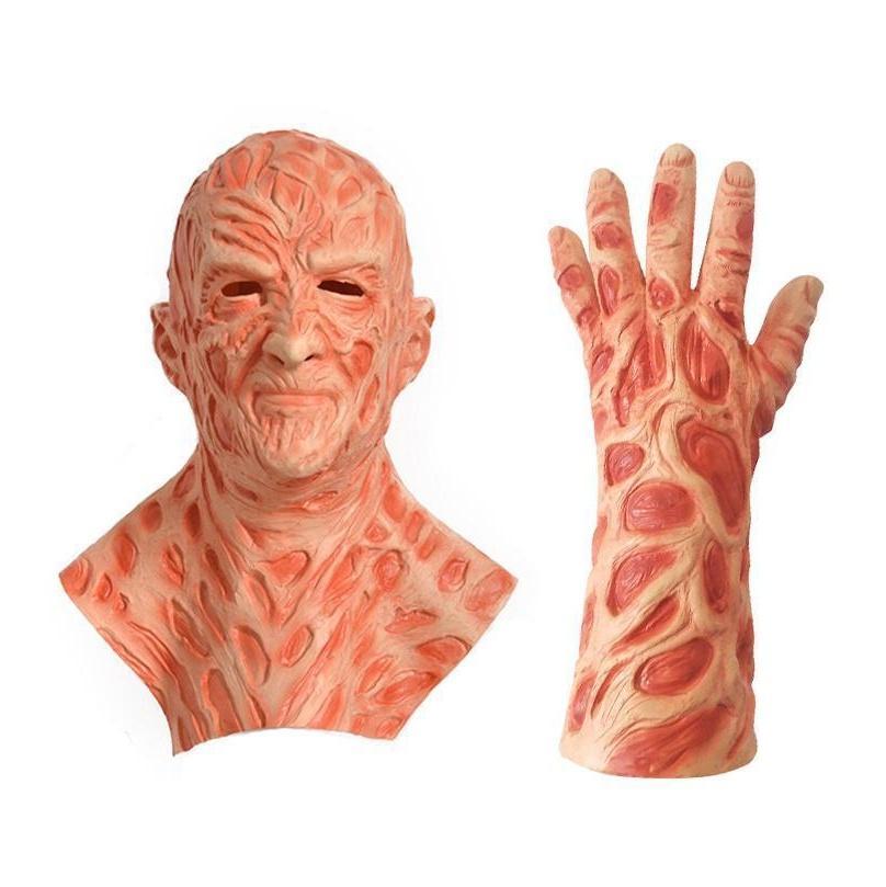 Freddy Kruger Latex Maske Handschuhe Kostüme Erwachsene Party Kostüm Freitag Die 13. Mörder Jason Horror MO JLLSYT BDEBAG