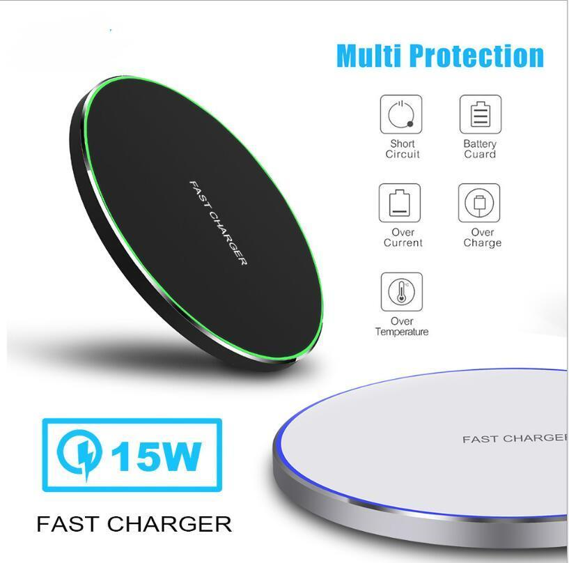 15W 10W Wireless Charger for iPhone 12 mini pro max 11 Wireless Fast Charging Pad Phone Charger for Samsung S10+ Note 10