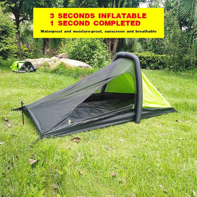 Tenda da campeggio all'aperto tenda gonfiabile alone automatici popolari quattro stagioni grande spazio sigillato ultra leggera tenda escursioni