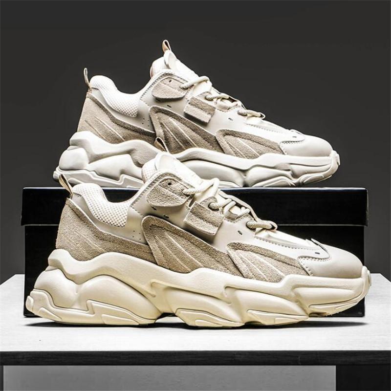 2020 Moda Uomo Sneakers uomo giovane Via Trend Outdoor Leisure Shoes personalità traspirante molle di gomma delle scarpe da tennis di fondo