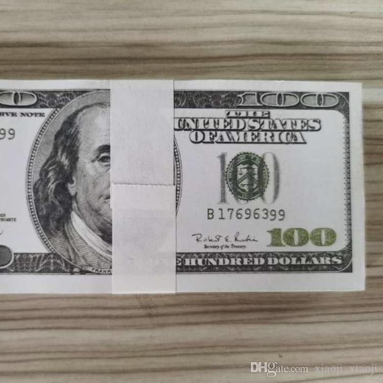 Papier 100 Dollar Billet de Billets Faux Bills Collection ARGENT ENTREPRISE DE L'ARGENT DU PAPIER PROPAGE DE L'ARGENT VIEUX COPIE PRESENTEZ 100PCS / PACK 03 POUR TMQIF
