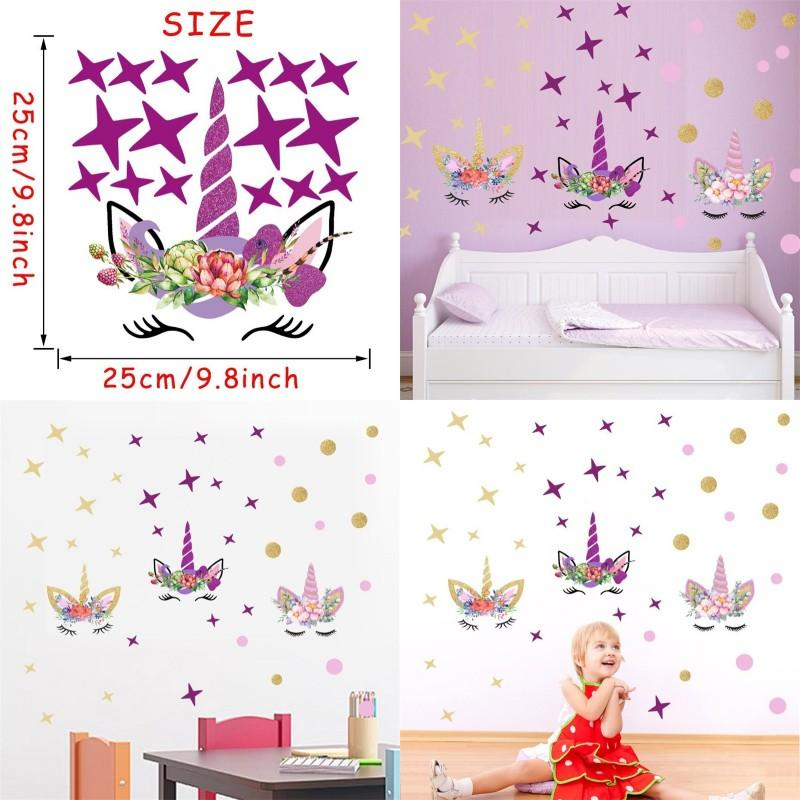 Unicorn Sticker New Style Popular Universal Childrens Roomwall Stickers Creative Stars Doodling Paster Factory Direct Selling 6 1dc p1