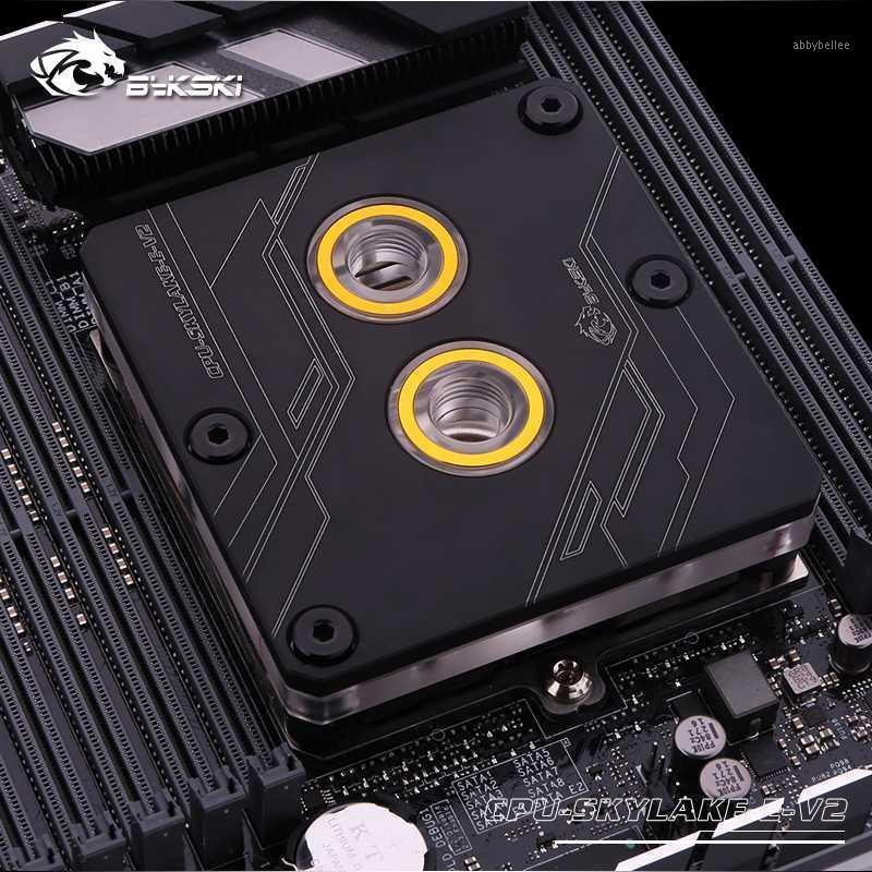 BYKSKI CPU-SIDYLAKE-E-V2 CPU Bloque de agua para Intel LGA3647 / Skylake, cuadrado negro, sin luz, refrigerador de agua refrigerante líquido1