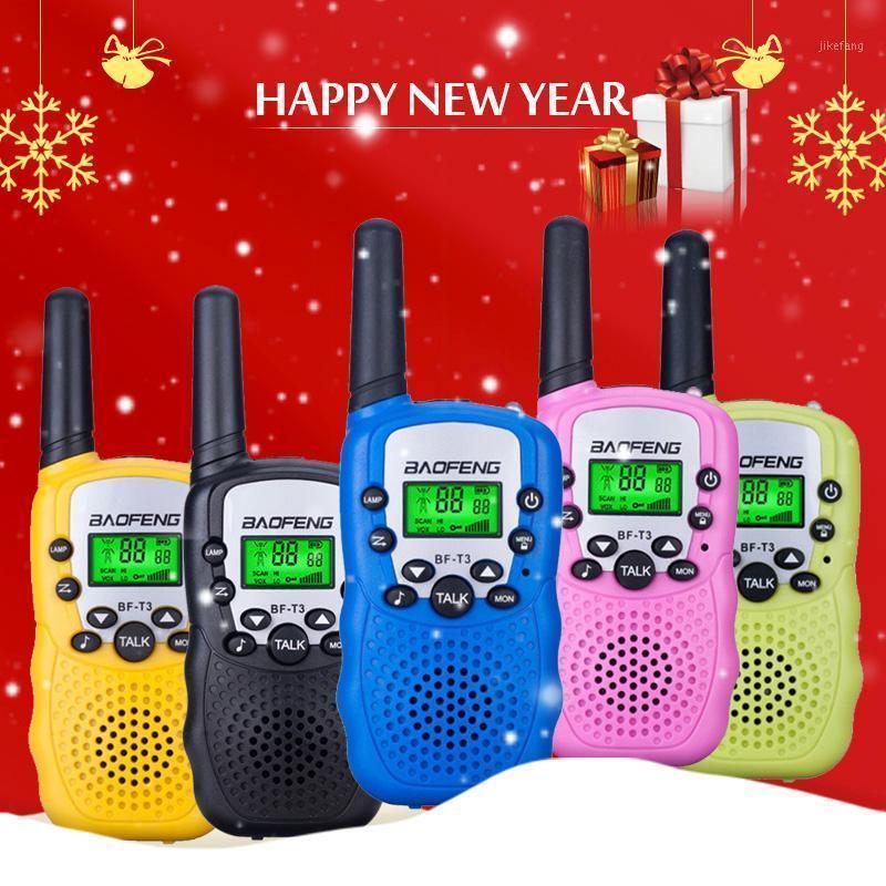 Baofeng BF T3 Walkie Talkie Çocuklar 2 ADET Comunicador DistanZza Radyo Bambini başına 100-800m Walkie-Talkie Regalo di Natale di Şikayet