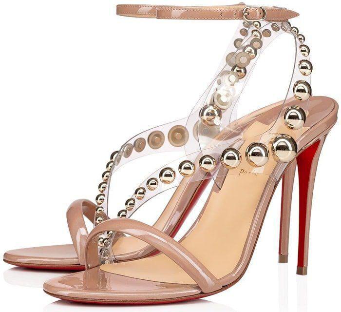 Moda Yaz Kırmızı Alt Corinetta Sandalet Biblo-kesilmiş PVC Sapanlar ile Kadın Yüksek Topuklu Zarif Bayan Gladyatör Sandalet AB 34-43