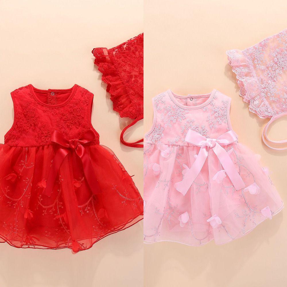 Niña recién nacida vestida ropa de verano con flor 0 3 6 meses vestido de niña para fiesta y ropa de princesa de boda ropa de estilo Q1223