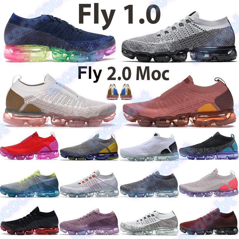 2019 Fly V2 V1 Hommes Femmes Chaussures De Course Gris Foncé Métallisé Or Triple Noir Rouge Orbit Designer Oreo Sneakers Entraîneurs Chaussures De Sport