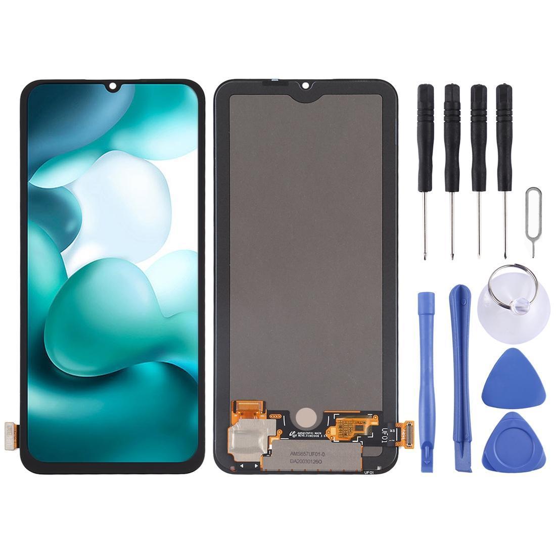 Original AMOLED material de tela LCD e digitador Assembléia completa para Xiaomi Mi 10 Lite 5G redmi 10X PRO 5G redmi 10X 5G
