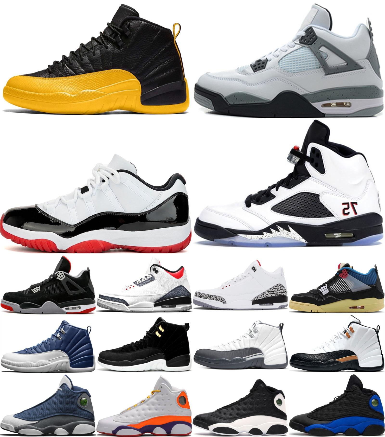 Nike Air Max Retro Jordan Shoes 1S الكلاسيكية 11 13 11S 13S لدت أخمص القدمين أعلى الملكي 3 حطمت اللوحة الخلفية لعبة 12 5 4 شيكاغو المالكة أحذية الرجال النساء لكرة السلة
