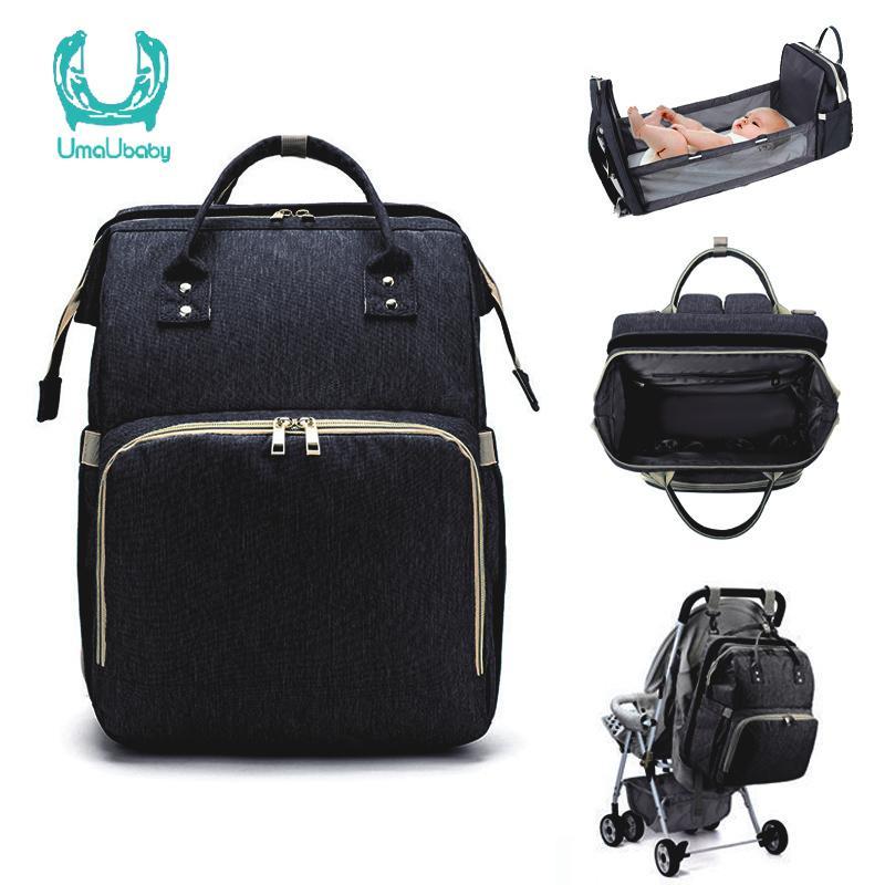 UMAUBABY Рюкзак Backpack Безопасная кровать Мумия Детка для коляска Многофункциональная сумка подгузника Высокая емкость Организатор 201021