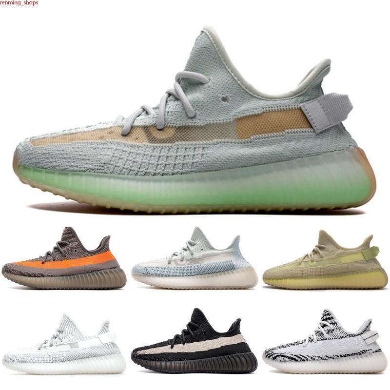 Originals 350 V2 Diseñador de lujo hombres mujeres v2 cebra estática yecheil crema sésamo kanye west og arcilla verdadero formulario yecheil 3m zapatos de onda zapatillas de