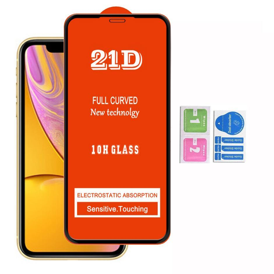 2020 21D tampa completa protetor de tela de vidro temperado para iphone12 se 11 pro max xr xs 6 7 8 lg k31 k51 k61 stylo 6 k50s k41s