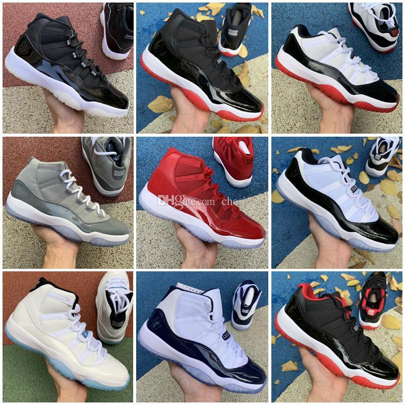 25-årsjubileum Concord Bled 11 11s Lågt män Kvinnor Jumpman Basket Skor Space Jam Cap och Gown Legend Blue Sports Sneakers Mens Trainers