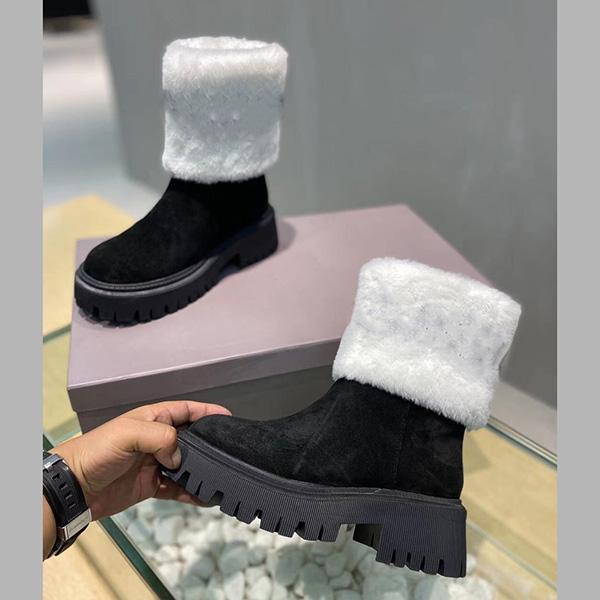 Новый модный дизайн женские снежные сапоги с шерстяными ботилью голенолы зима теплые хлопчатобумажные ботинки блеск повседневная обувь