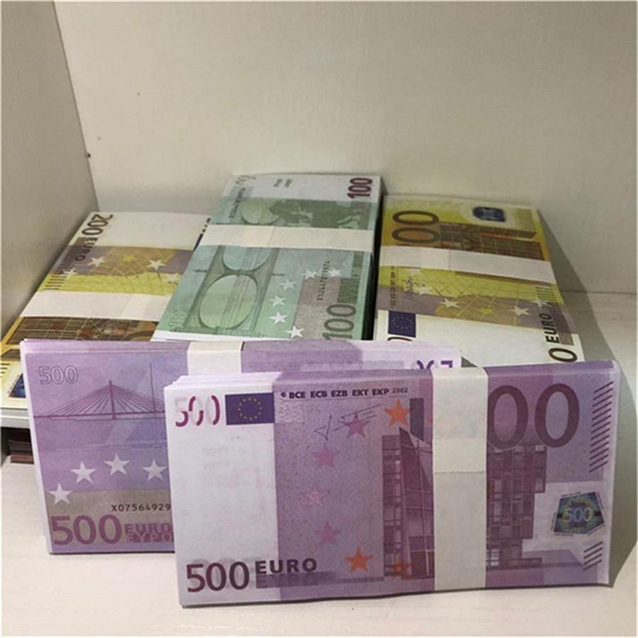Hohe Qualität Großhandel Nachtclub Bar Atmosphäre Requisiten Geld Faux Billet Euro Gefälschte Film Geld Billet Euro Spiel Geld E41